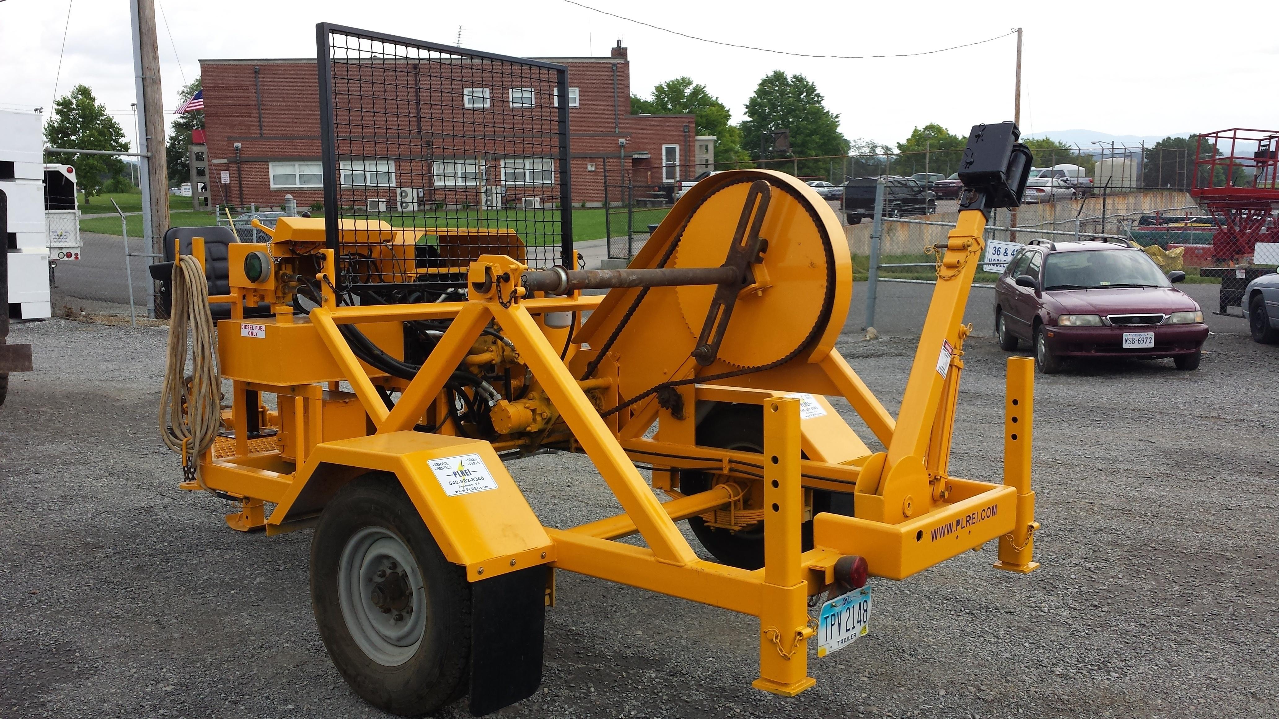 Rent A Hydraulic Puller : A la woods single drum puller plrei